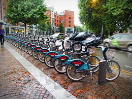 Rental bikes in front of our hotel. , David E - December 2016