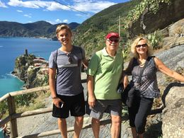 Enjoying the tour of Cinque Terre , Mary N - October 2015