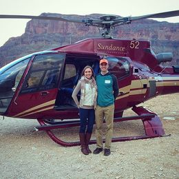 My wife and I after landing in the Grand Canyon. , Greg J - March 2015