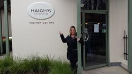 That's me, in the pic before our tour of the Haigh's Chocolate Factory which is part of the Adelaide City Sightseeing tour. The tour of the factory was wonderful and I made sure I purchased a LOT..., mrsdoubtfire - July 2014