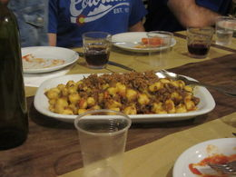 Getting ready to eat our homemade gnocchi with meat sauce, we also made a nice marinara sauce - absolutely delicious!! , Alan d - November 2015