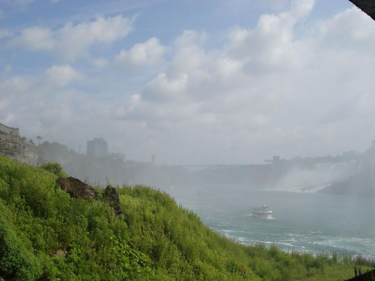 Looking out from beside the Horseshoe Falls - Niagara Falls & Around