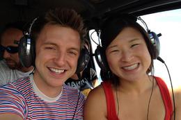 On the helicopter!, Jules & Brock - September 2012