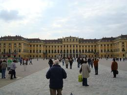 Visitors approach the Schonbrunn Palace, Vienna, Michael H - October 2008