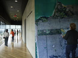At the observation deck, you can also look at a huge detailed aerial map of the city, Laura All Over - May 2013