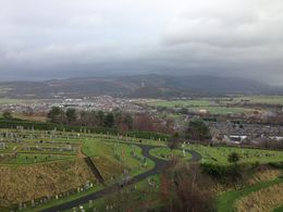View from on top of Stirling castle - overlooking the battle with William Wallace , Andrew C - December 2015