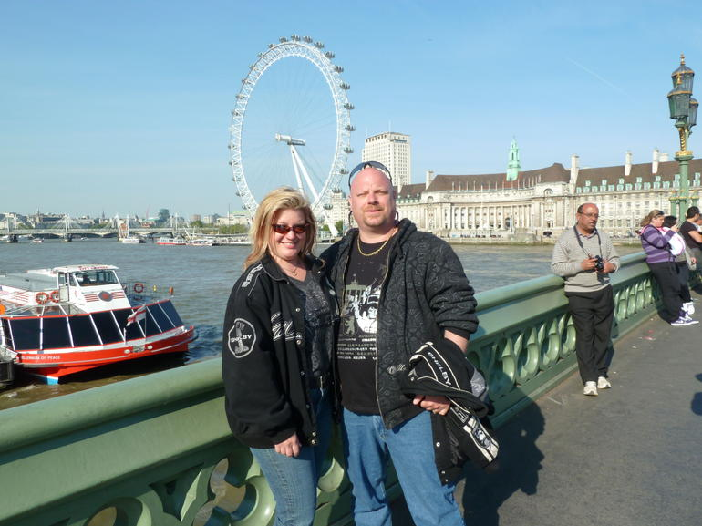 us in front of the eye - London