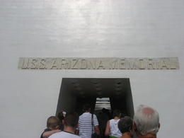 The entrance to the USS Arizona Memorial (after disembarking from the boat)., Bandit - February 2011