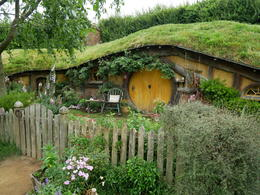 One of the first few hobbit holes we saw on our trip , Hunter - December 2016