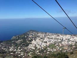 Cable car to the top of Capri Island , Alsha T - March 2017
