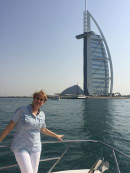 View to Burj Al Arab from the sea , Laura - April 2017