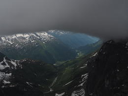 Viiew from Titlis Summit Station - thick clouds above sky , KOK WAH L - June 2017