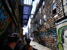 Artist alley in Mission district , Marc L - September 2017