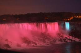 American Falls are lit up every night, Patricia D - May 2009