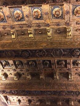 Ceiling of the bedroom, scene of action during the papacy. , John A P - November 2014
