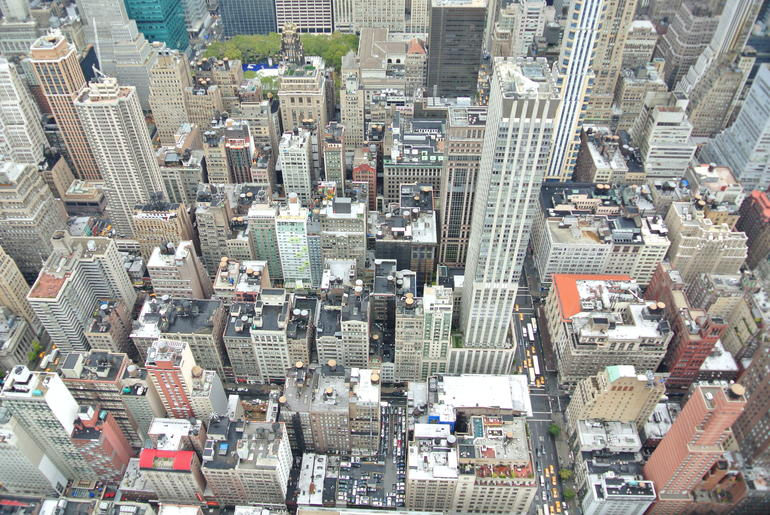 bovenop Empire State buiding. - New York City