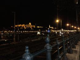 Walking alongside thr tram lines on the Pest side looking towards Buda Castle, Anne F - September 2010