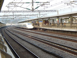Fascinating train station and the amazingly fast Bullet Trains , Christina L - March 2015