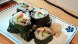 Sushi made at the cooking class. - January 2012