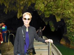 Finishing the boat ride through the Waitomo Caves. , Fred - March 2013