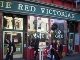 Famous Red Victorian B&B and Peace Cafe in Haight-Ashbury, San Francisco, skigirlsf - December 2011