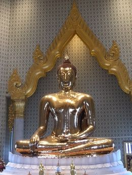 Golden Buddha inside Wat Pho , Blesilda B - August 2015
