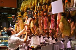 They love ham in Spain sliced thinly from the animals shank and severed as is or on tapas. , george J - October 2013