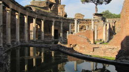 A pool at Hadrian's villa, Helene - October 2012