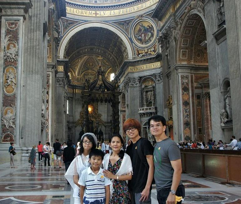 My Family Photo inside St. Peter Basilica - Rome