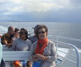 Janet Edwards enroute to St Tropez enjoying the sea breeze , Albert E - September 2012