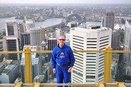 That is me at the northern side of the tower at the top. , Matthew G - October 2011