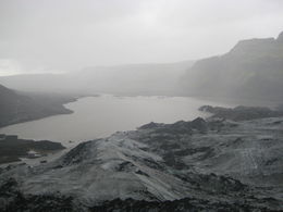 View from atop Solheimajokull on our glacier hike. , Florence C - August 2016