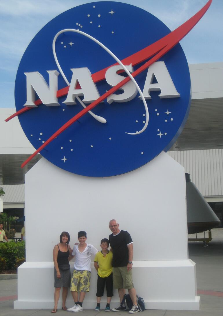 The Hardman Family visiting Nasa - Orlando