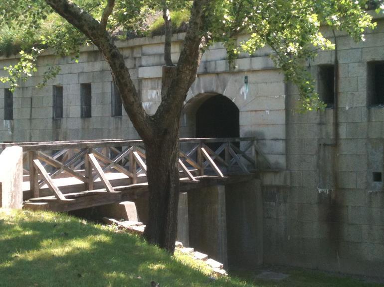 Walkway to Fort Warren, Georges Island - Boston