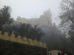 looking up at Pena Palace , Joan G - December 2016