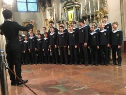 Vienna Boys Choir perform at Sunday Mass in Hofburg Palace Chapel , Michelle K - February 2017