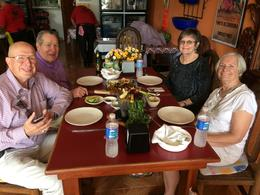 Art, Al, Joan and Elaine about to eat lunch. Better than delicious! , Joan W - January 2018
