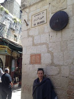 Via Dolorosa Old Jerusalem, Cat - May 2015