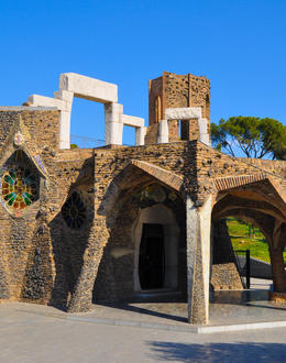 Gaudi crypt / church at Colonial Guell , Nathan - March 2013