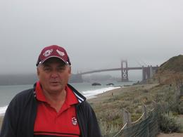 Mark in view of the Golden Gate Bridge and the famous Fog., Mark M - July 2009
