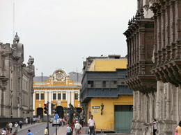 From right to left: Archbishop's Palace, Casa del Oidor (oldest in Lima), Desamparados Station (horizon) and Palacio del Gobierno (far left) , Cruiser Craig - February 2013