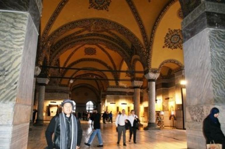 Inside the Aya Sofia - Istanbul