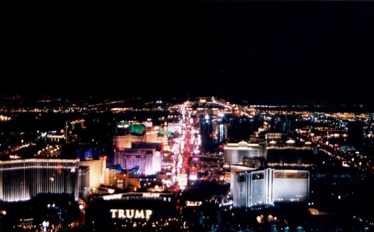 Las Vegas Strip as seen from helicopter - Las Vegas