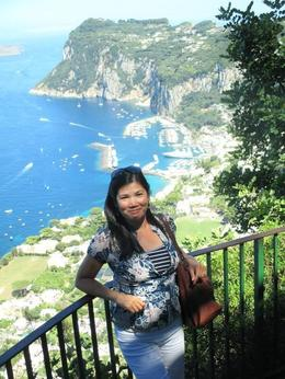 Lovely panoramic view from the top of Anacapri , Johanna C - July 2014