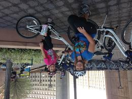 Mom and J getting ready to bike through DC! , Dana S - September 2014