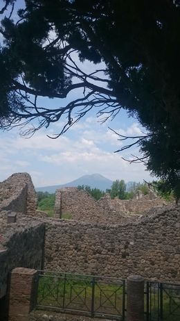 Far away yet deadly, Vesuvius still looms in the distance over the city it ruined almost 2000 years ago. , Natalia W - June 2015
