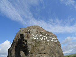 Awesome to stand between Scotland and England! , Julianne F - July 2015