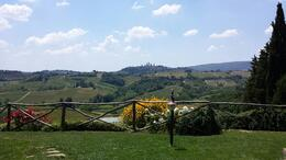 View of San Gimignano from lunch/wine tasting on the farm. , Steven G - June 2014