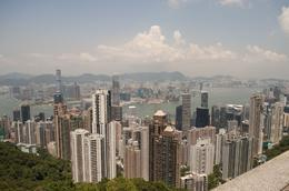 Looking out from the Peak over Hong Kong. - September 2009