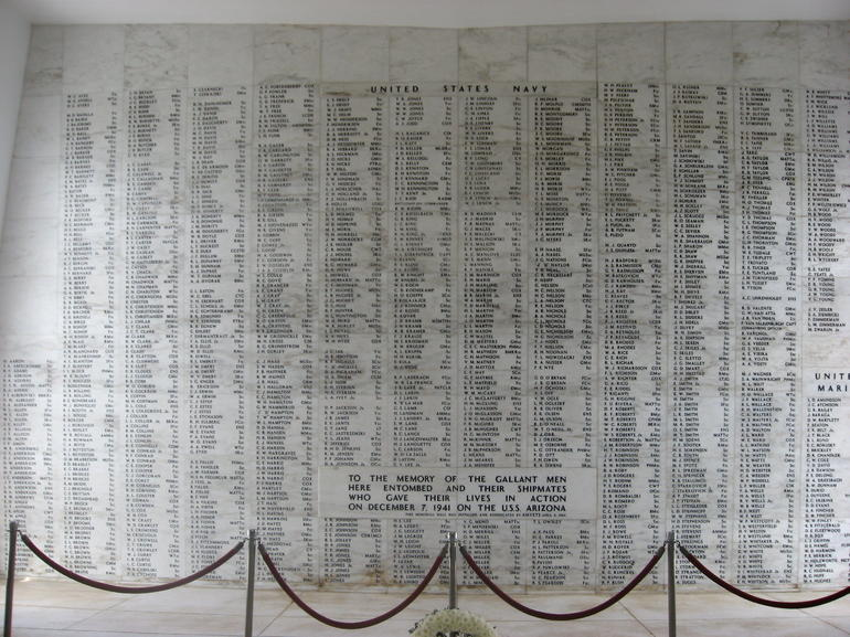 Wall Inside Memorial - Oahu